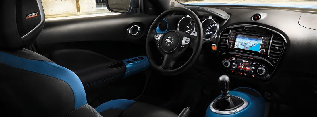 Interior del Nissan Juke con su pantalla de 5,8 pulgadas