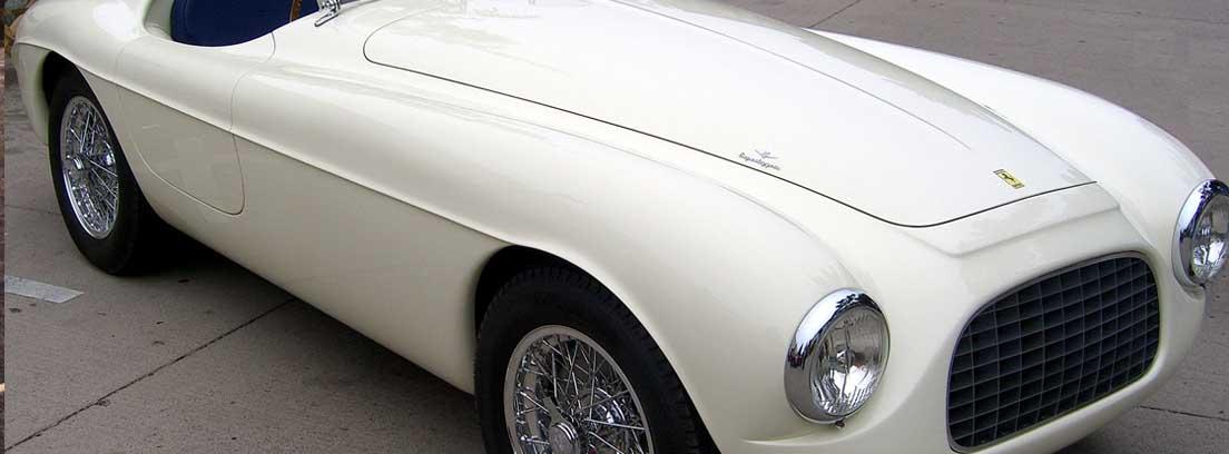 Ferrari 166S en blanco