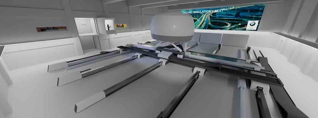 Simulador de alta fidelidad del centro de simulación de conducción de BMW en Múnich