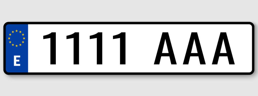 placa de matrícula española