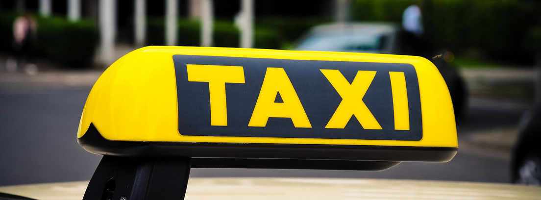 distintivo de un taxi