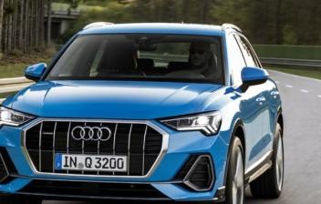 Imagen frontal en carretera del nuevo Audi Q3