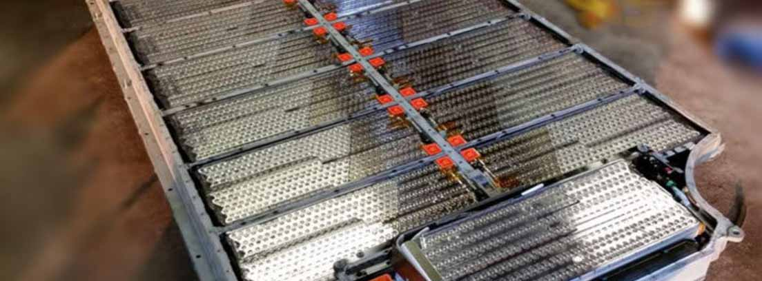 Batería de iones de litio para un coche eléctrico