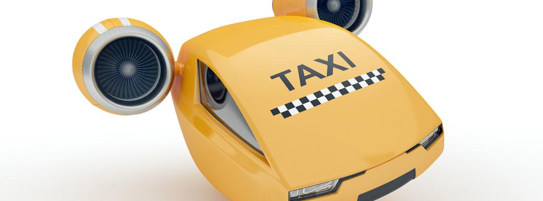 Imagen de un taxi volador
