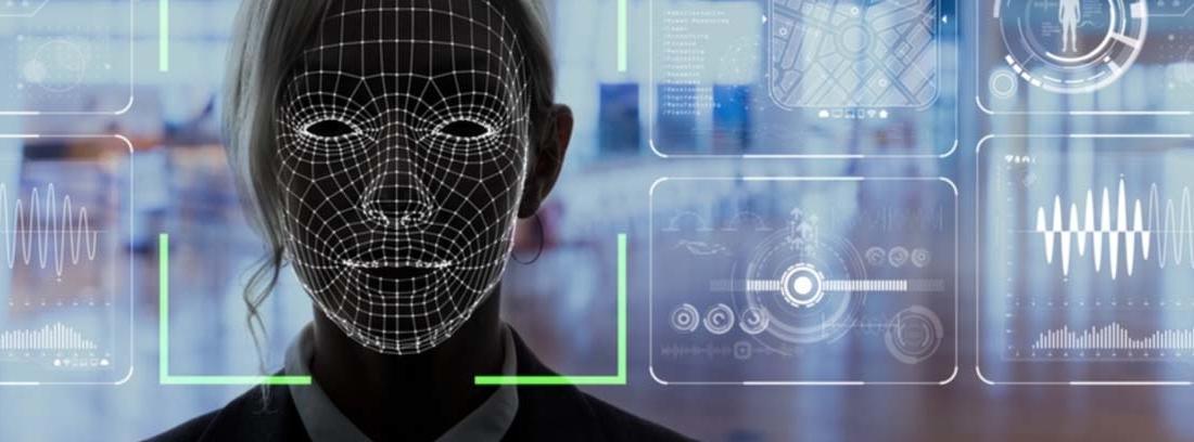 Imagen de rostro en cámara de reconocimiento facial