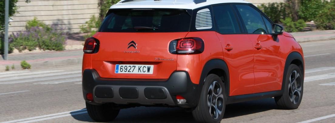 Vista trasera del Citroën C3 Aircross