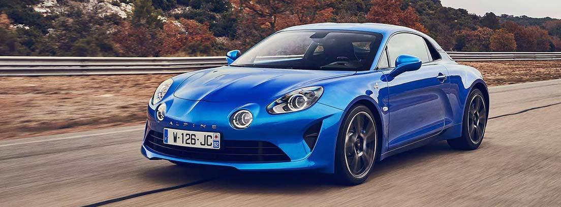 El Alpine A110 de Renault en color azul