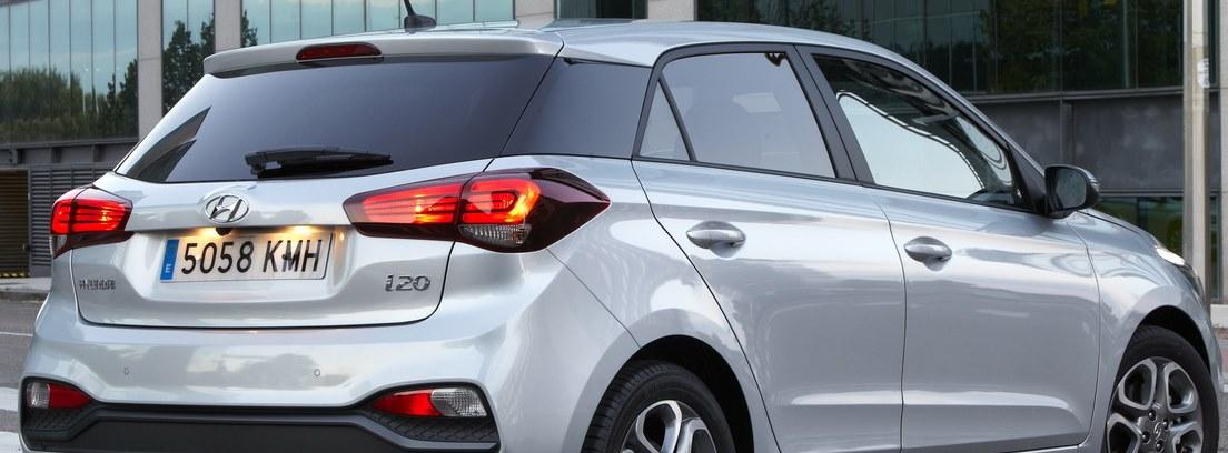 Vista trasera del Hyundai-i20