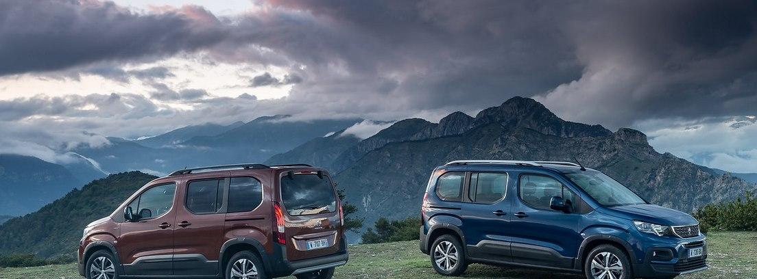 Dos Peugeot Rifter en el campo