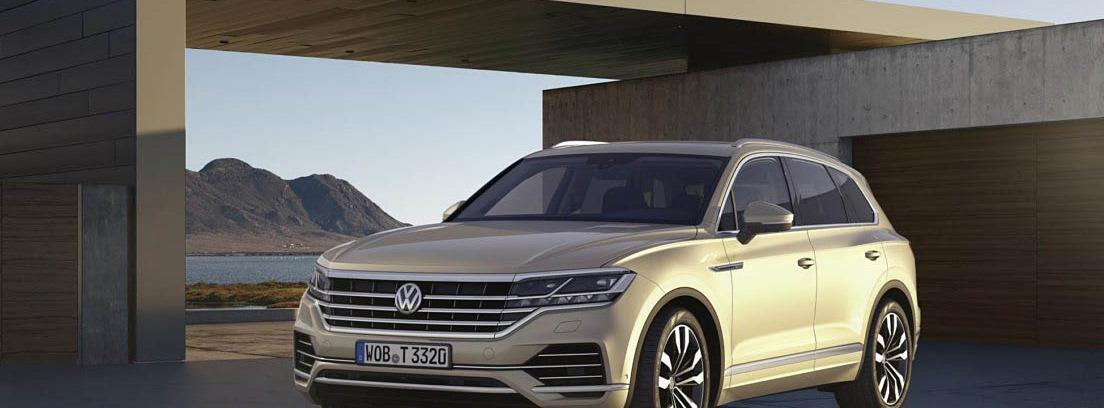 Visión delantera del Volkswagen Touareg