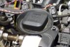 Vista de un motor de coche