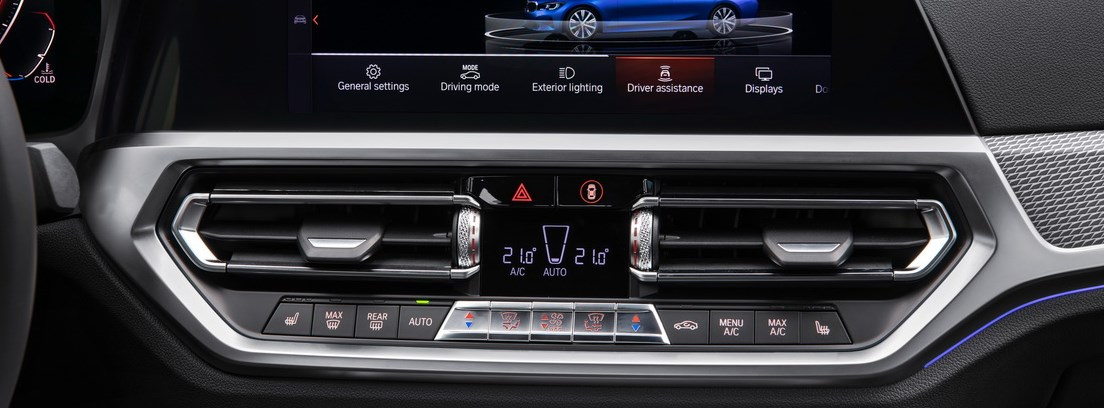 Vista interior de los sistemas de refrigeración del nuevo BMW Serie 3
