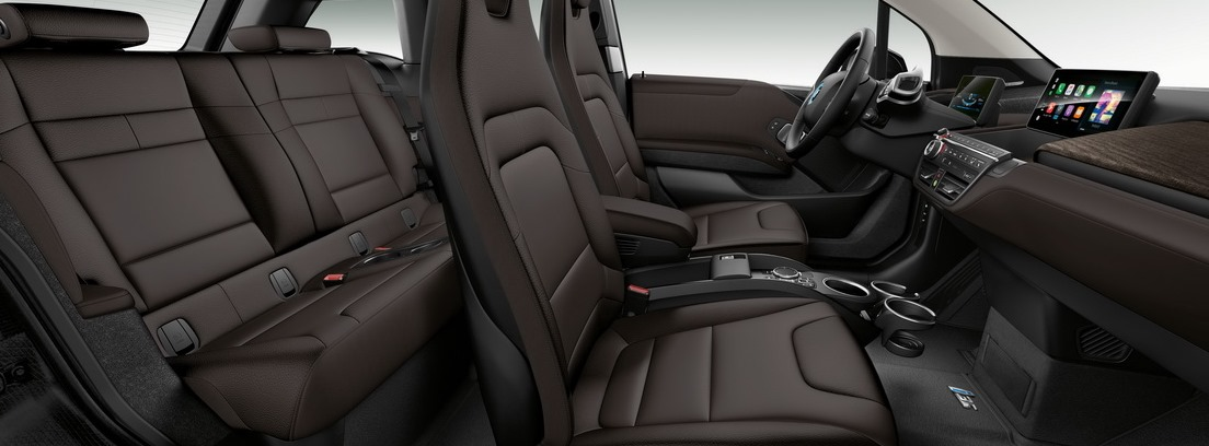 Vista interior de los asientos del BMW i3