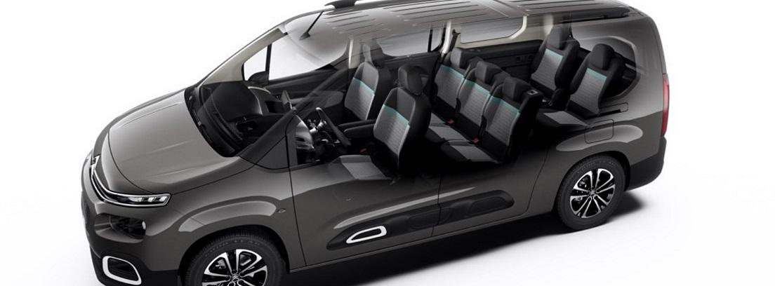 Imagen esquemática de un Citroën Berlingo oscuro
