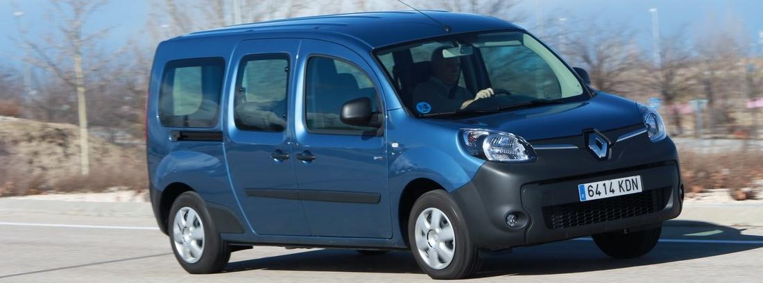Prueba del Renault Kangoo Maxi ZE 33 azul