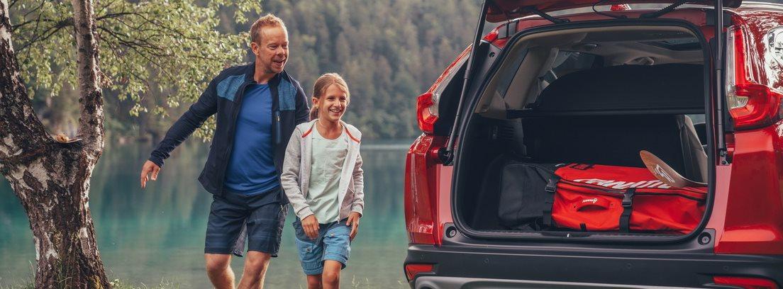 Honda CR-V, padre e hija