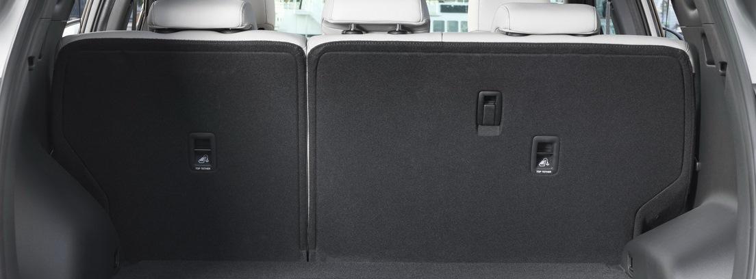 Interior del nuevo Hyundai Tucson con un maletero mayor.