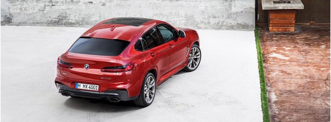 Vista superior del BMW X4