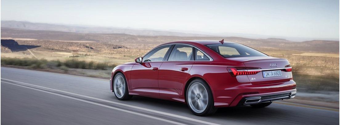 Nuevo Audi A6, circulando en carretera secundaria
