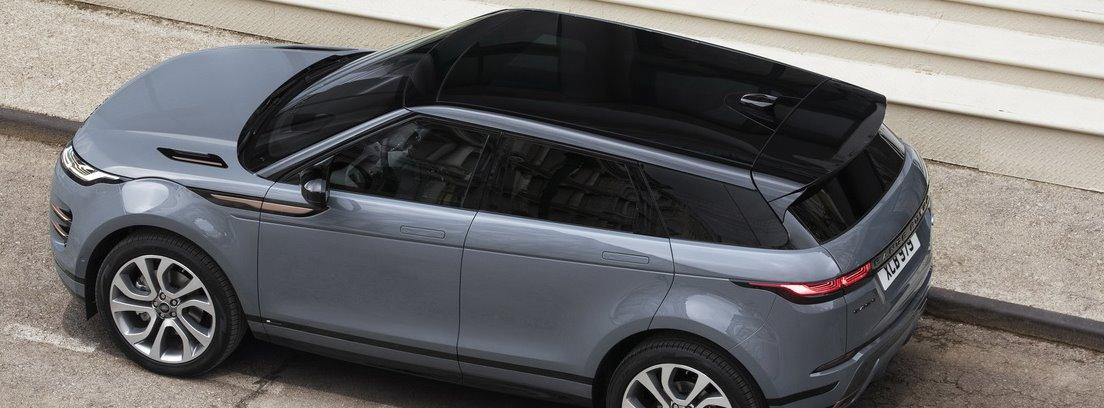 Vista superior de Range Rover Evoque