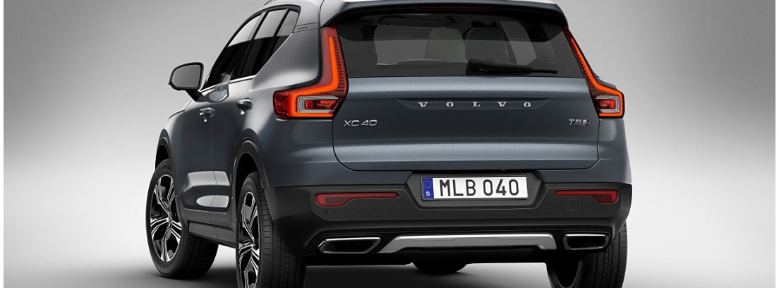 Vista trasera del Volvo XC40 Inscription