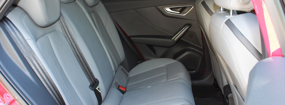 Las plazas traseras del Audi Q2, son cómodas