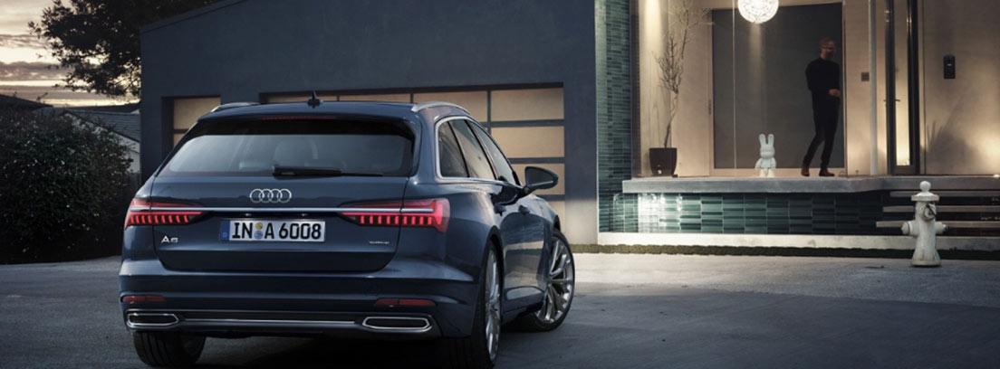 Vista trasera del Audi A6 Avant