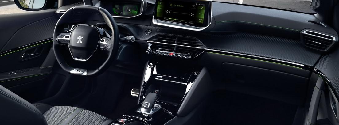 Peugeot 208, consola central