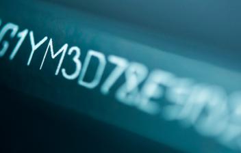 Ejemplo de código alfanumérico tipo de un vehículo