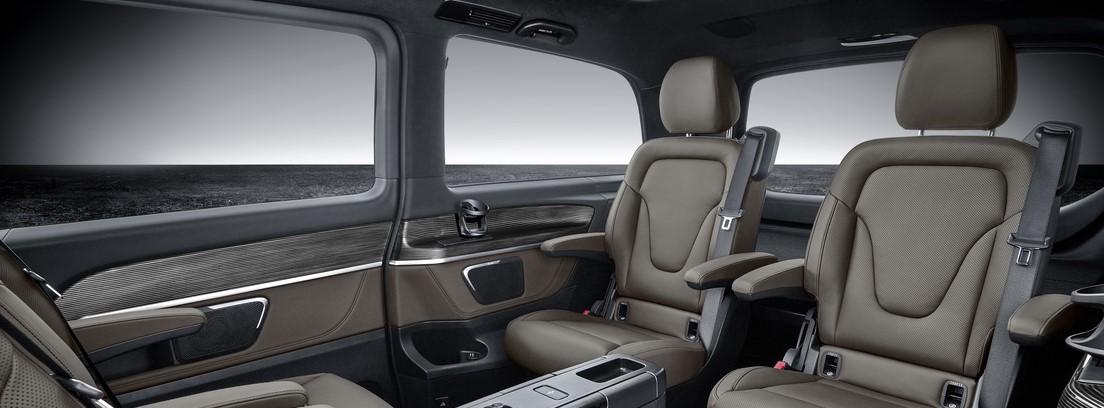 Interior de la Mercedes Clase V 2019