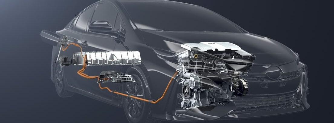 Gráfico del sistema de motores del nuevo Toyota Prius Plug-In