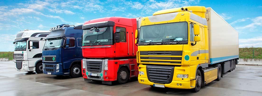 Camiones aparacados