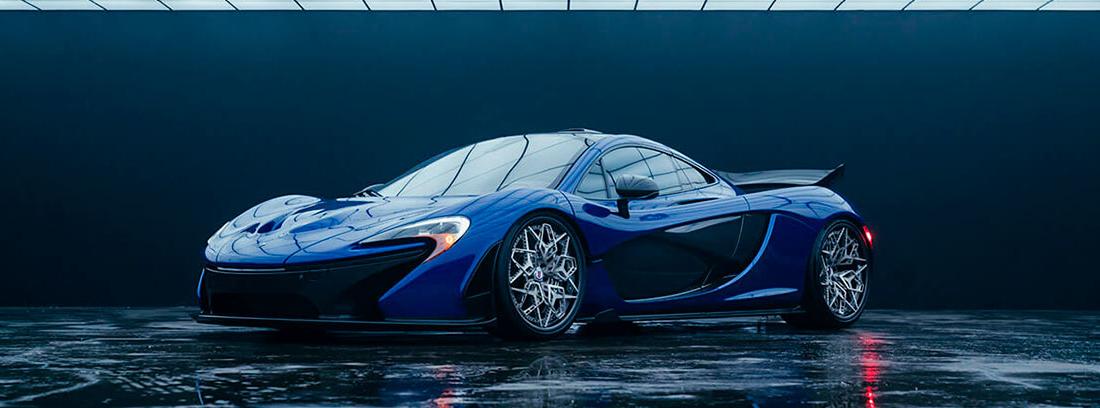 Coche McLaren con las llantas 3D de HRE