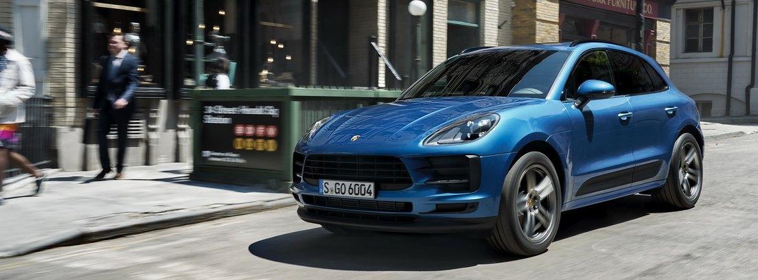 La vista lateral del nuevo SUV Porsche Macan