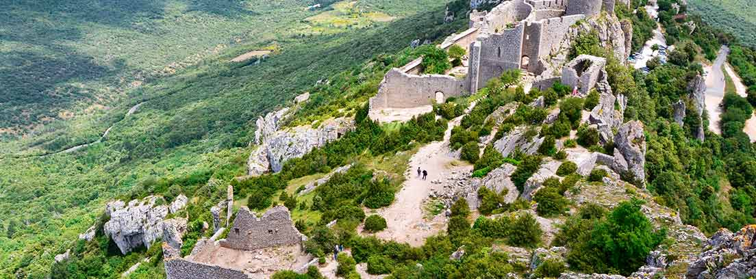 Vista aérea del castillo de Peyrepertuse