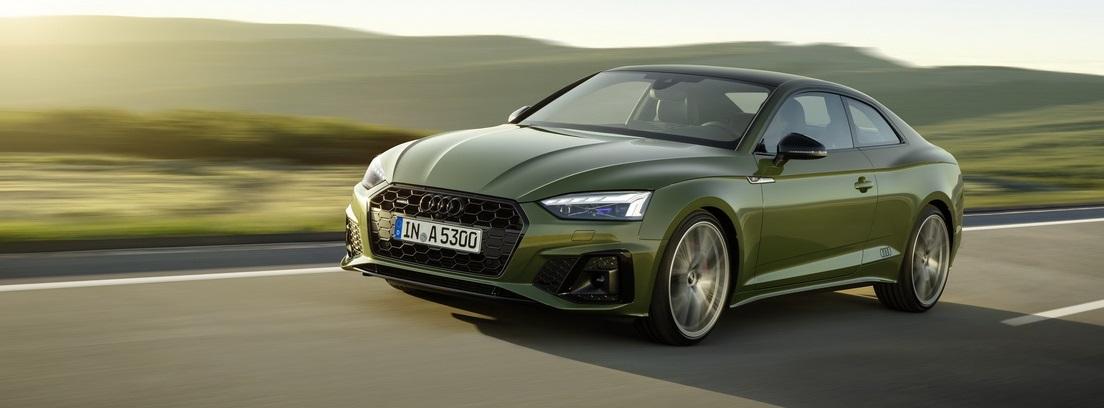 Audi A5 verde distrito