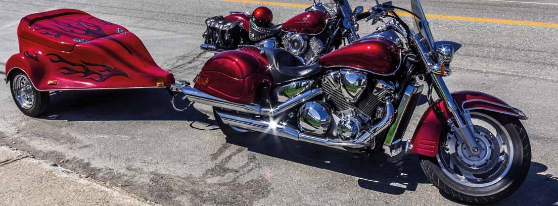 Motocicleta con remolque