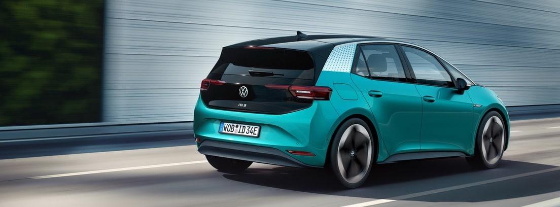 Vista trasera del Volkswagen ID3