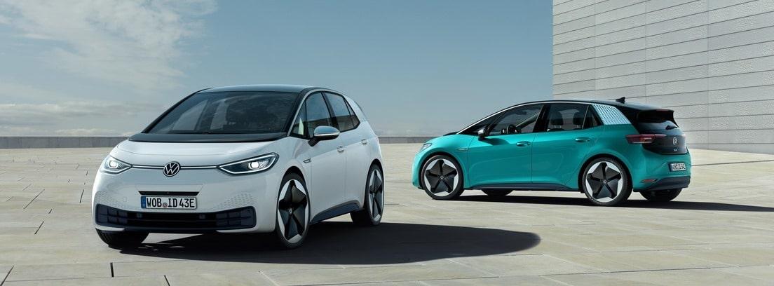 Dos Volkswagen id3 eléctricos
