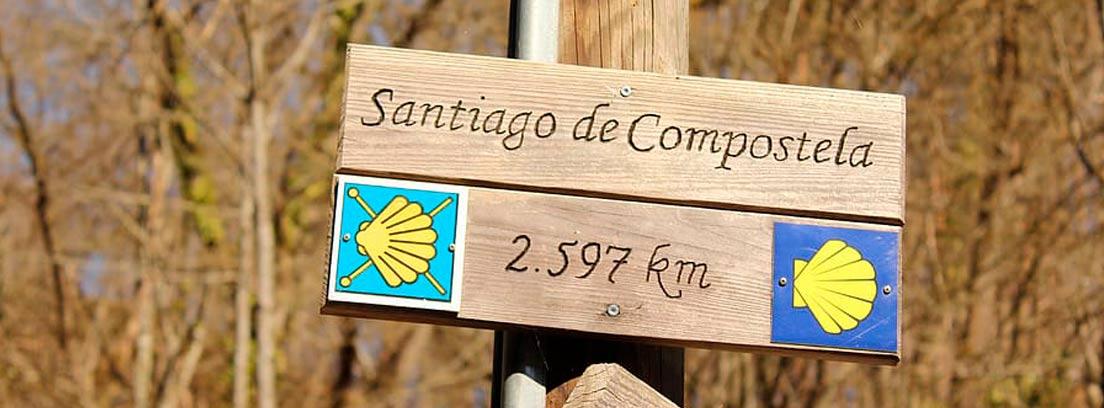 Cartel del Camino de Santiago