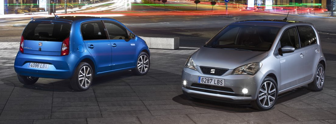 Dos Seats Mii electric en sus versiones azul y gris