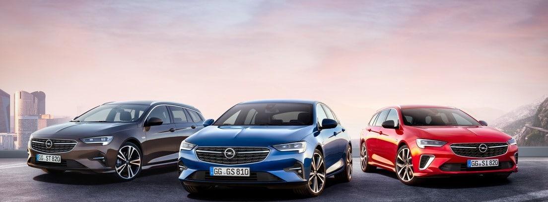 Tres modelos de Opel Insignia