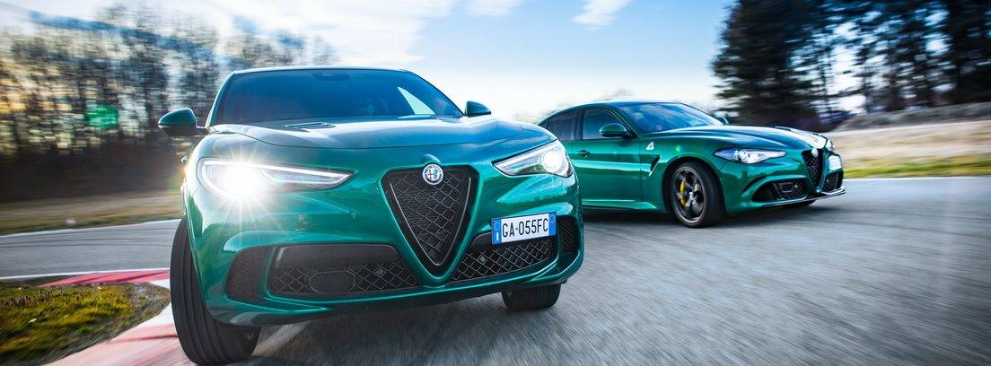 Alfa Romeo Giulia y Stelvio Quadrigfolio en carretera