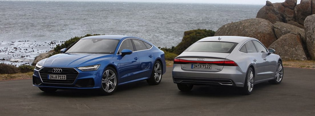 Dos modelos de Audi A7 Sportback
