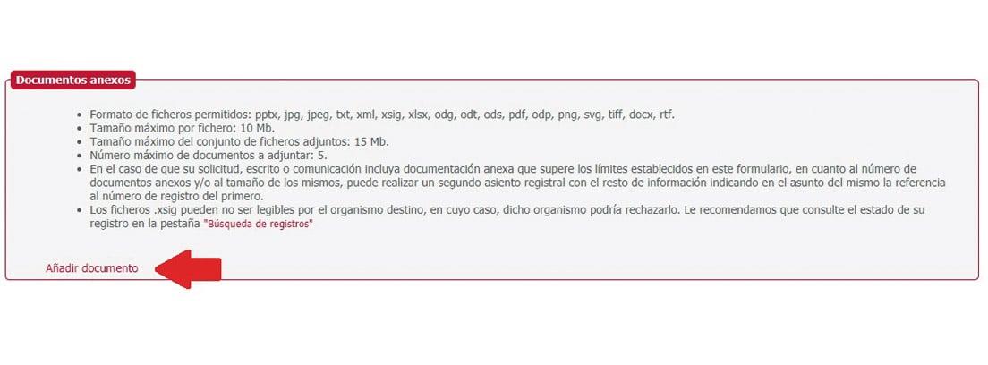 """Pantallazo """"Documentos anexos"""""""