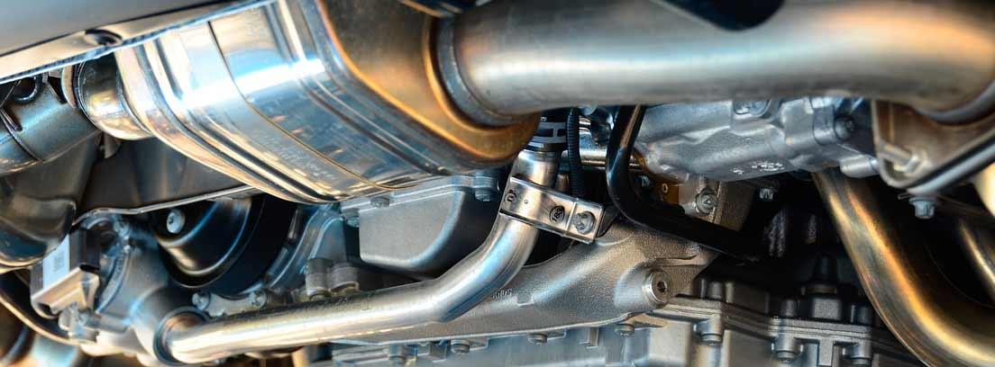 vista del mecanismo de transmisión de un vehículo