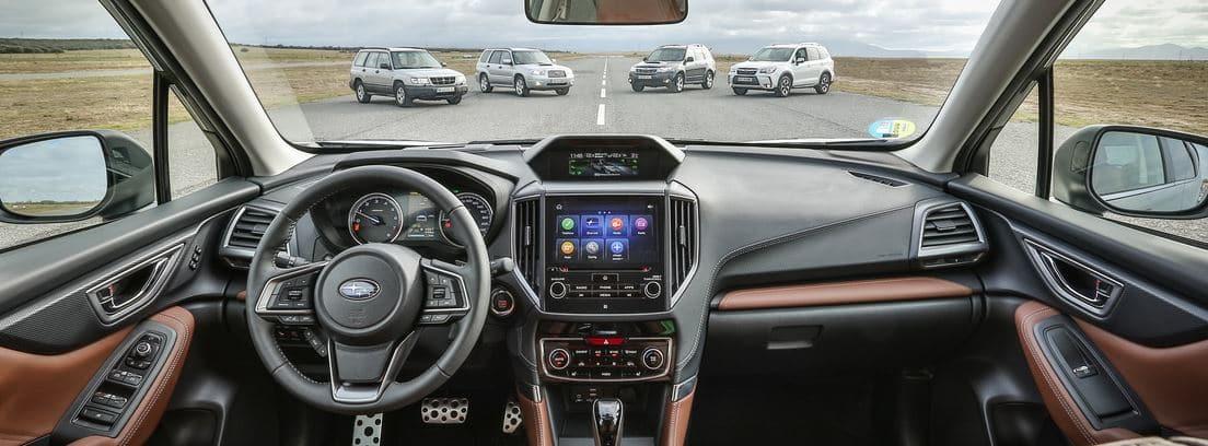 Interior del Subaru Forester ECOhybrid