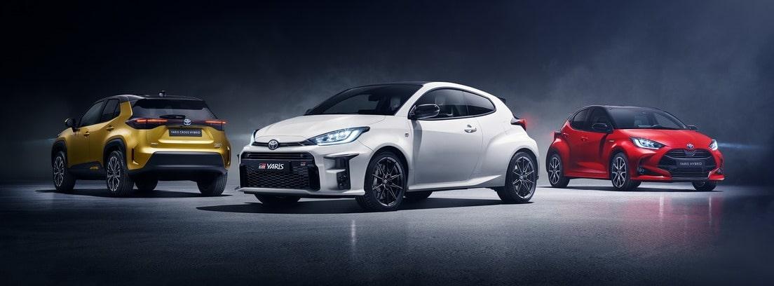 Tres modelos de Toyota Yaris Cross