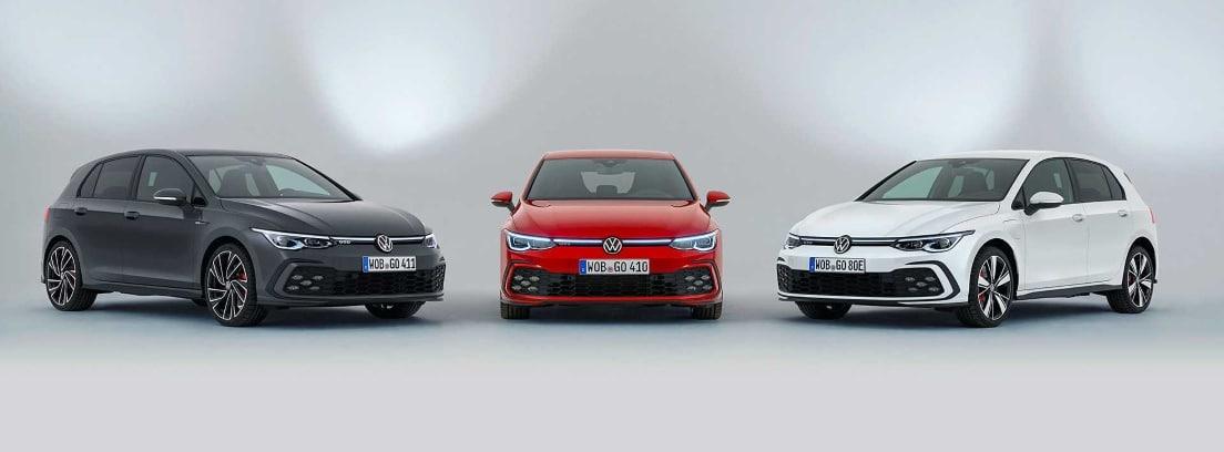 Tres modelos de Golf GTI 2020
