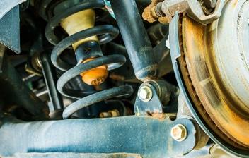 Sistema de suspensión de un coche